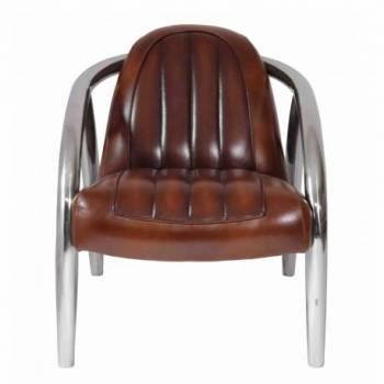 Fauteuil QUAD, cuir vintage Mobilier Club Vintage - 1
