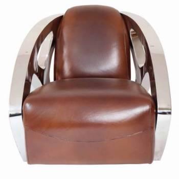 Fauteuil SQUALE, cuir vintage Mobilier Club Vintage - 1