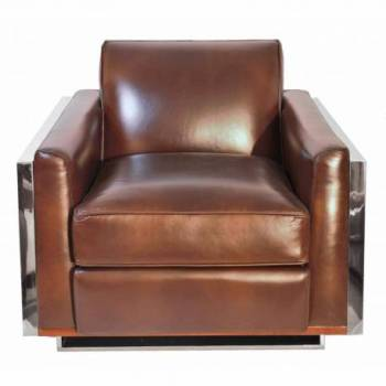 Fauteuil NAPOLI, cuir vintage Mobilier Club Vintage - 4
