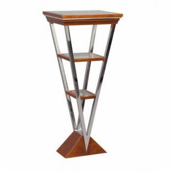 Piedestal MONTAIGNE TRIANGLE, noyer Mobilier Club Vintage - 10
