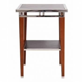 Table d'appoint ASTON, cuir noir Mobilier Club Vintage - 22