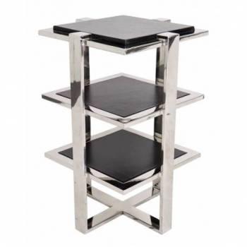 Table d'appoint ELYSÉE, cuir noir Mobilier Club Vintage - 37