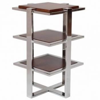 Table d'appoint ELYSÉE, cuir vintage Mobilier Club Vintage - 50