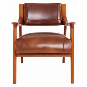 Fauteuil BERFEN, cuir vintage Mobilier Club Vintage - 5