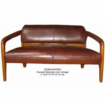 Canapé DAYTONA, cuir vintage Mobilier Club Vintage - 10