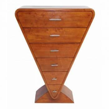 Chiffonier ICONE, bois noyer Mobilier Club Vintage - 14