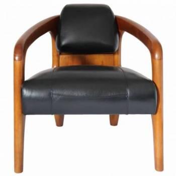 Fauteuil club DAYTONA, cuir noir Mobilier Club Vintage - 5