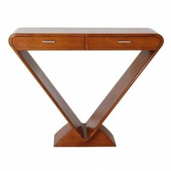 Console ICONE 2 tiroirs, bois noyer Mobilier Club Vintage - 5