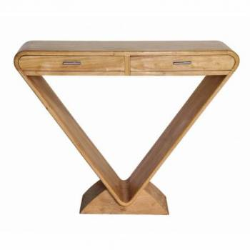 Console ICONE 2 tiroirs, naturel Mobilier Club Vintage - 8