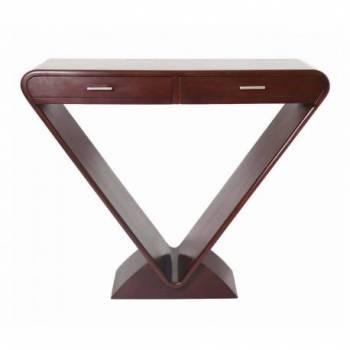 Console ICONE 2 tiroirs, bois foncé Mobilier Club Vintage - 12