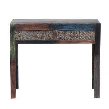 Console sculptée multicolore - Manguier Pushkar