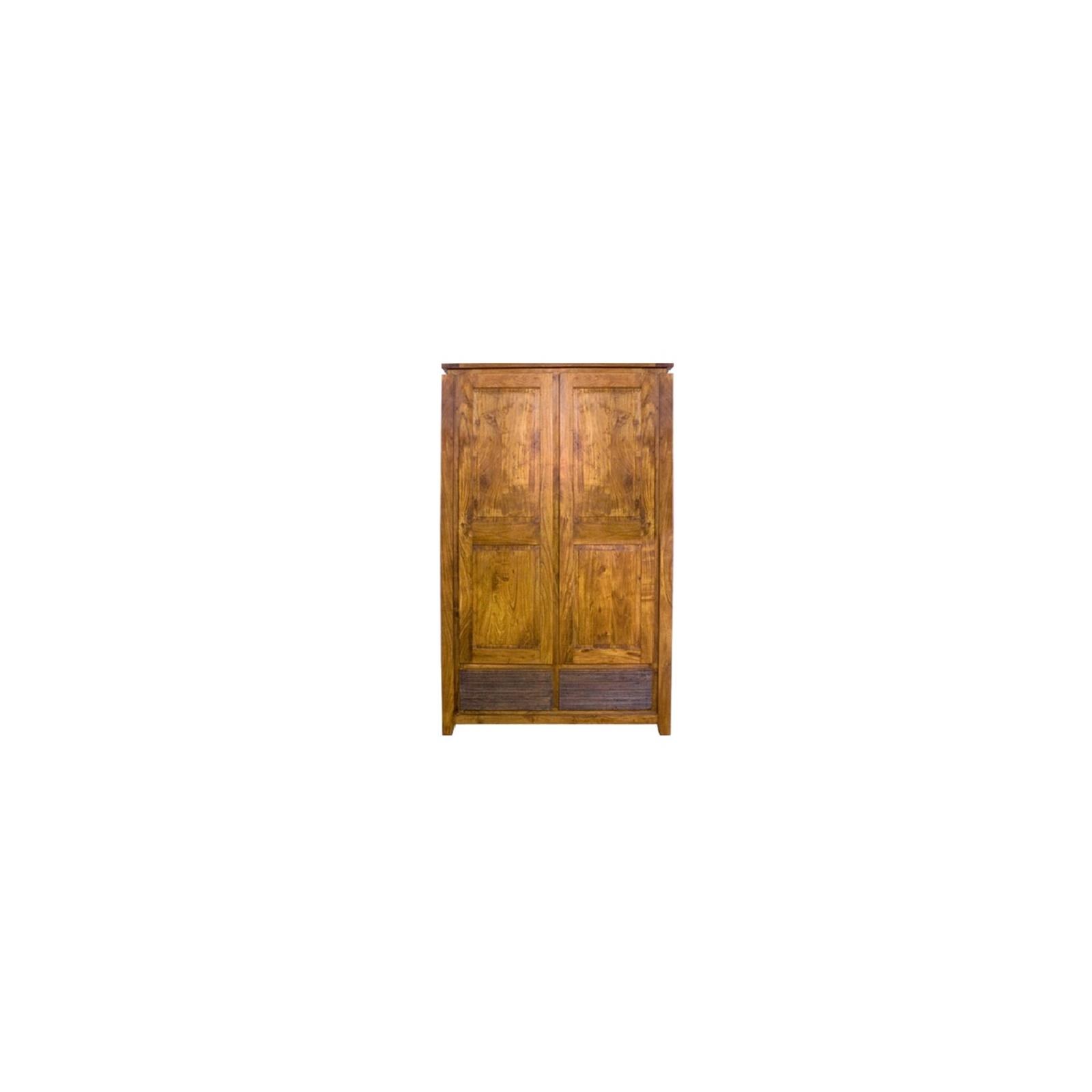 Armoire haut de gamme Lisboa 2 portes et 2 tiroirs en bois d'acacia massif